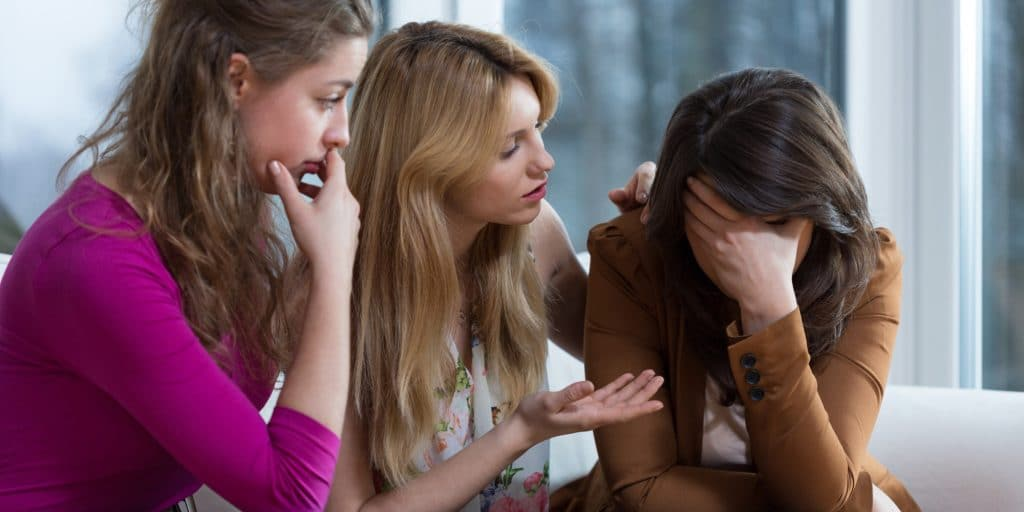 Overcoming a difficult problem with friends stressed