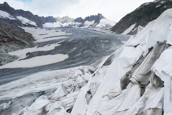 Screenshot from Picture Shelter film of a glacier
