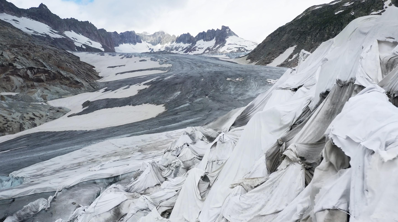 Picture's SHELTER film showing dramatic glacier melt