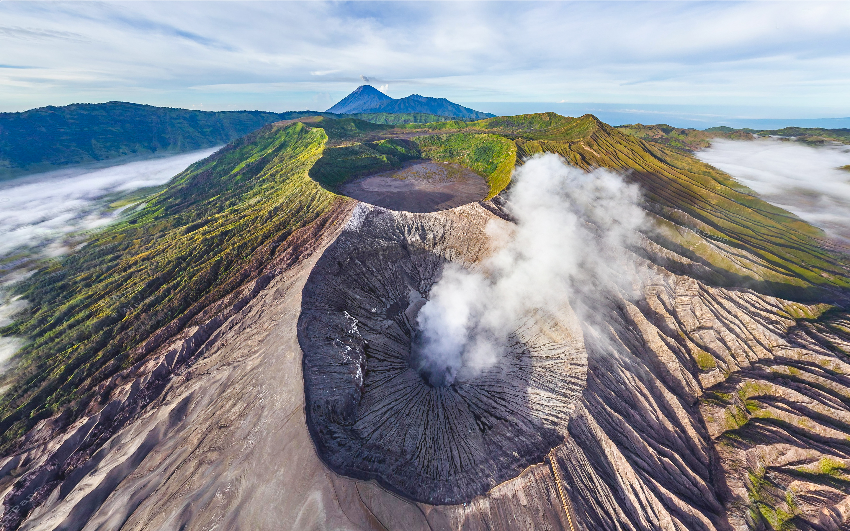 Bromo Active Volcano – Java Indonesia captured from AirPano/com