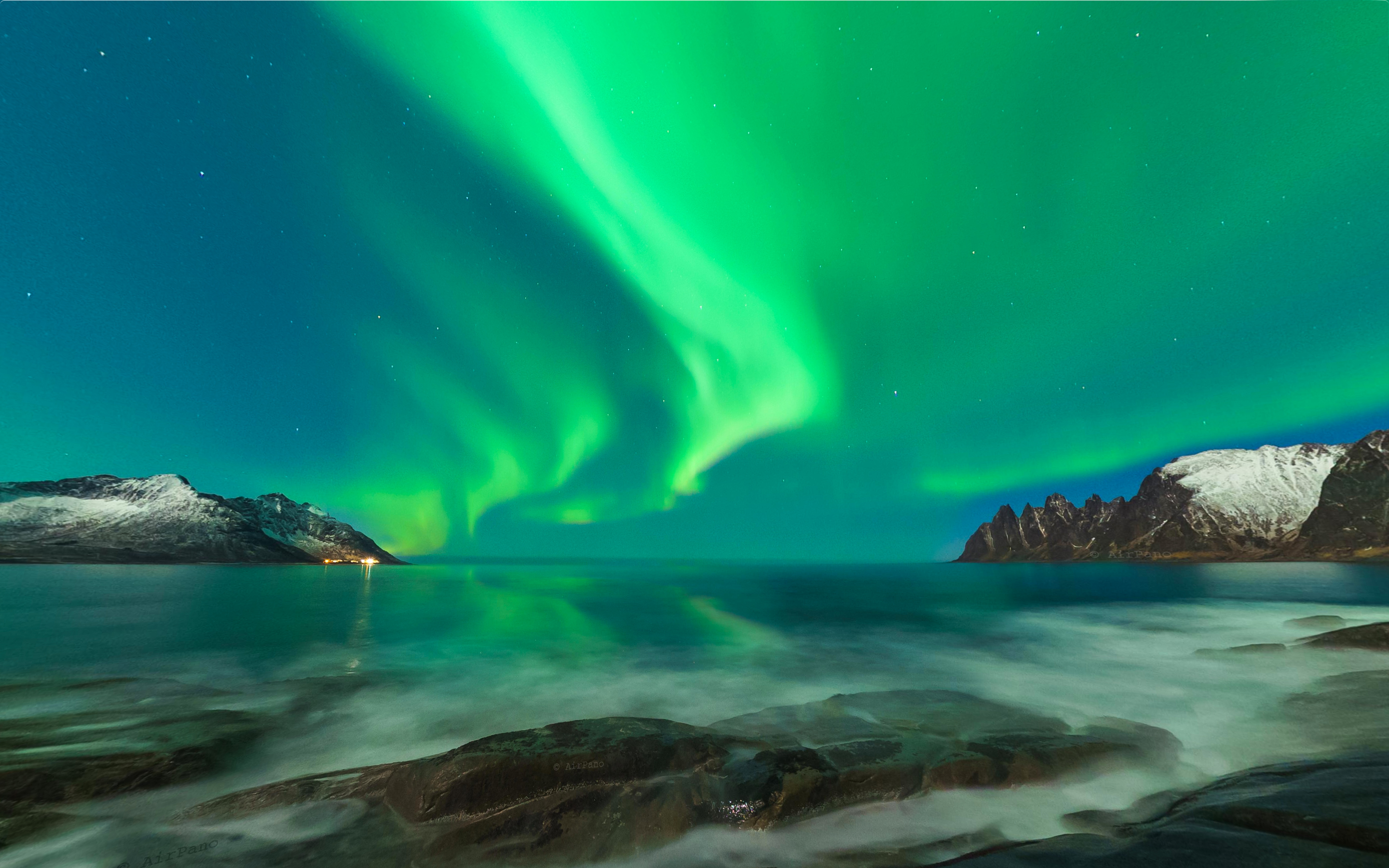 Northern Lights – Norway captured from AirPano.com