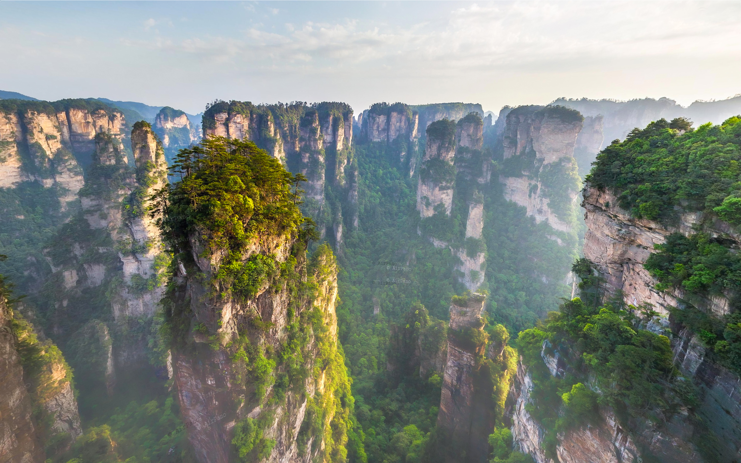 Zhangjiajie Forest – Avatar Mountains in China captured from AirPano.com